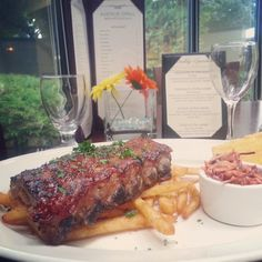 Half Rack of BBQ Baby Back Ribs served with Cole Slaw, French Fries & Jalapeno Cornbread - $15