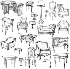 sketch of chairs - Bing Images