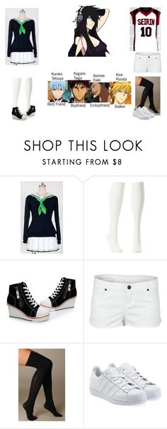 """Kuroko no Basket/Basuke Oc"" by haruhikurosaki-demon ❤ liked on Polyvore featuring Ayame, Charlotte Russe, Hurley, Hue and adidas Originals"