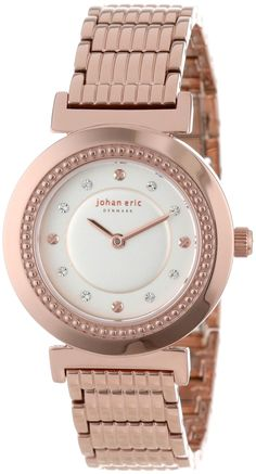 Johan Eric Women's Djursland Rose Gold Ion-Plated Stainless Steel Swarovski Crystal Watch by Johan Eric -- Awesome products selected by Anna Churchill 21st Gifts, Watches For Men, Men's Watches, Crown Jewels, Gold Watch, Swarovski Crystals, Plating, Rose Gold, Stainless Steel