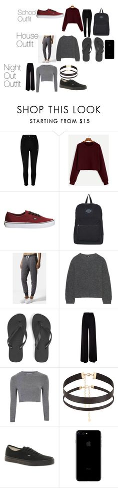 """""""Untitled #5"""" by sotiriakasapi on Polyvore featuring River Island, Vans, Topshop, Uniqlo, Havaianas, MaxMara, Glamorous and Accessorize"""