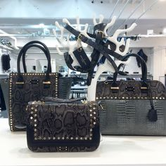 Gorgeous merchandising of our Paul's Boutique Grey Snakeskin Collection shared on our Benelux Facebook page right here: https://www.facebook.com/PaulsBoutiqueBenelux x #paulsboutique