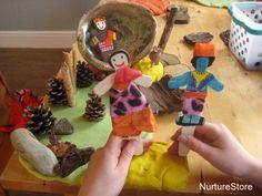 DIWALI: Rama and Sita puppets :: Diwali activity - NurtureStore