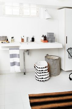 Half Moon Basket & Geometry Cups from ferm LIVING www.fermliving.com Styling: Rikke Graff Juel. Photo: Anitta Behrendt