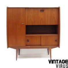 Vintage dressoirkast teakhout