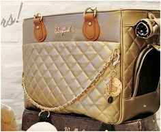 Chic Bag 3- Gold - Shop By Designer - Wooflink Collection Posh Puppy Boutique $162