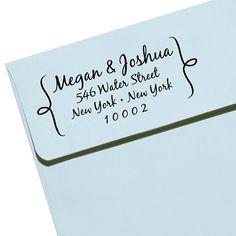 "CUSTOM ADDRESS STAMP - Eco Friendly & self inking, gifts for wedding, housewarming, etsy labels, return address stamp ""Name36"" on Etsy, $29.95"