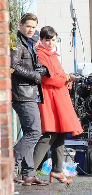 Josh Dallas and Ginnifer Goodwin on set 26th of February 2013.