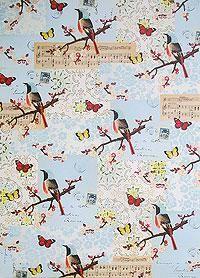 Cavallini Decorative Paper- Flora & Fauna Birds & Music