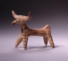 Bull, c.1400-1100 BC (terracotta). Late Helladic Period (c.1600-1100 BC) / Private Collection / Photo © Heini Schneebeli