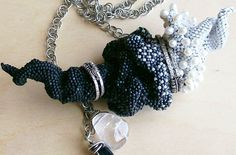 Pendant Necklace Beadwoven Aleta Ford Baker InDeSpiral Wearable by on Etsy, $400.00