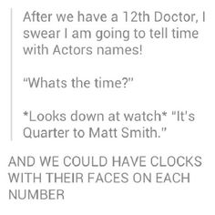 IT'S DOCTOR WHO TIME! - Imgur
