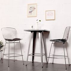 At your breakfast bar or pub table, you can't go wrong with the vintage-modern style of the Mod Made Chrome Wire Counter Stool . This stool is based. Bar Stool Chairs, Counter Bar Stools, Island Stools, Room Chairs, Black Furniture, Classic Furniture, Metal Furniture, Modern Furniture, Dining Room Bar