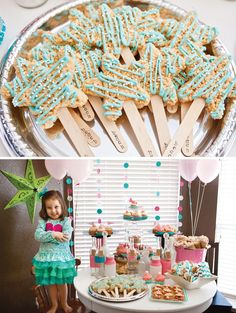 Pink & Teal Beach Themed Birthday Party