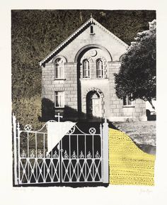 John Piper 'Penybont Ford Congregational Church', 1966 © The Piper Estate John Piper Artist, John Minton, Tate Gallery, Royal College Of Art, White Aesthetic, Source Of Inspiration, Architecture, Ford, Landscape