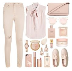 """Untitled #36"" by amela-ella-hodzic ❤ liked on Polyvore featuring AG Adriano Goldschmied, MaxMara, Kate Spade, Too Faced Cosmetics, Chanel, Gucci, Hollister Co., Quay, Rebecca Minkoff and Michael Kors"