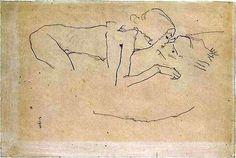 The Kiss - Egon Schiele 1915 Austrian 1890-1918 - Cozyhuarique