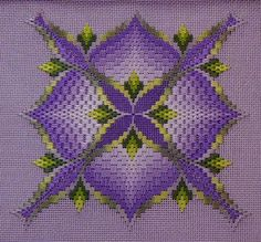 Pierrette's Stitching Gallery: 4-Way Bargello Orchid: Toni Gerdes, designer