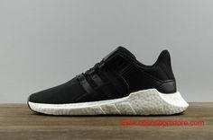 Women s Adidas EQT Boost SUPPORT 93 17 BB1236 Black White Bottom  90  Popular Sneakers abb78ecf57