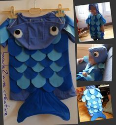 costume poisson T Carnival Costumes, Baby Costumes, Little Fish, The Little Mermaid, Costume Poisson, Halloween Kids, Halloween Costumes, Sea Costume, Fish Costume Kids