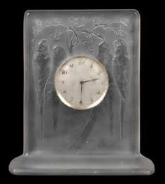 Lalique Quatre Perruches Clock