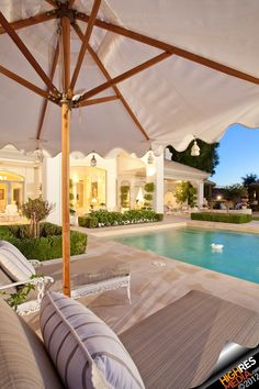 Luxury swimming pool - love the space btwn the pool and home