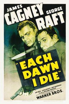 "Movie Posters:Crime, Each Dawn I Die (Warner Brothers, 1939). One Sheet (27"" X 41"")....."