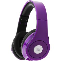 Delton Purple Sonic Wave DJ Headphones with Mic ($17) ❤ liked on Polyvore featuring accessories, tech accessories, purple, folding headphones, purple headphones and ipod headphones