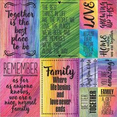 "Reminisce Ella & Viv Family Time Poster Stickers 12""X12""-"