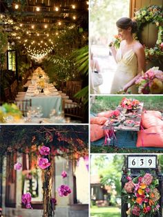 Love the pillow picnic & hanging flowers