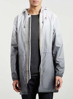K-WAY Grey Ombre Parka Jacket