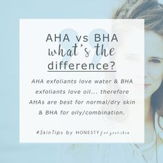 AHA vs BHA - not sure about the difference? Both can exfoliate your skin but only 1 is perfect for your skin type. It's easy to figure out, come learn all by clicking through above.