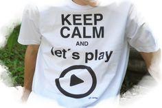 """T-Shirts mit Print - T-Shirt """"Keep calm and let´s play"""" - ein Designerstück von DaiSign bei DaWanda"""