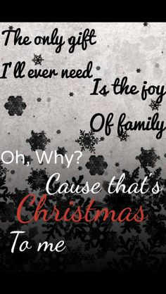 From That's Christmas To Me by Pentatonix *Originally made by Erin McKenna*