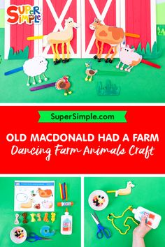 Make these adorable farm animals as a fun craft, activity or teaching aid! Easy Crafts For Kids, Crafts To Make, Art For Kids, Simple Crafts, Kid Crafts, Farm Activities, Craft Activities For Kids, Farm Animal Crafts, Farm Animals