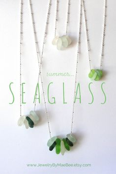 NEW One-of-a-kind Seaglass Necklaces from JewelryByMaeBee...just listed! www.jewelrybymaebee.etsy.com