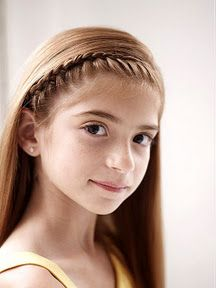 French braid headband. Medium to Difficult to accomplish! In a Pony Tail Rut? Gorgeous, Easy-to-Do Styles for Your Girl's Long Hair