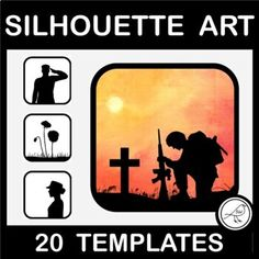 Silhouette art activity for Anzac Day, Armistice Day, Veterans Day, Memorial Day, or Remembrance Day. Print and use dye or watercolour paints to colour the background. A great way to learning blending techniques. If you don't have dye you could try using food colouring or watered-down acrylic pai... Spelling Words, Sight Words, School Resources, Classroom Resources, Female Side Profile, Poppy Template, Armistice Day, Anzac Day, Remembrance Day