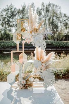 Wedding Ceremony Backdrop, Wedding Stage, Wedding Art, Boho Wedding, Floral Wedding, Wedding Flowers, Flower Decorations, Wedding Decorations, Dried Flower Arrangements