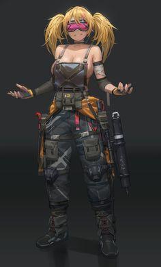 Female Character Design, Character Design Inspiration, Character Concept, Character Art, Evvi Art, Cyberpunk Art, Cyberpunk Anime, Cyberpunk Tattoo, Bd Comics