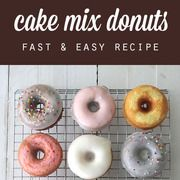quick & easy {baked} cake mix donuts recipe
