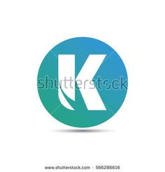 initial letter k creative circle logo typography design for brand and company identity. gradient blue color
