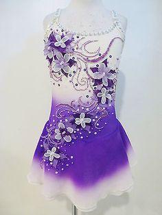 Beautiful Figure Ice Skating Dress Custom Made to Fit   eBay