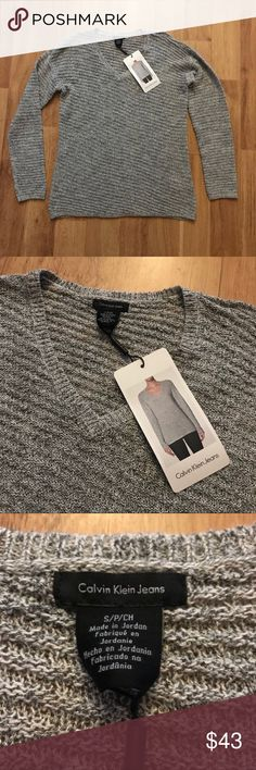 New Calvin Klein V-Neck Knit Sweater Size Small ✨ ⚜️I love receiving offers through the offer button!⚜️ Brand new, perfect condition, as seen in pictures! Fast same or next day shipping!📨 Open to offers but I don't negotiate in the comments so please use the offer button😊 Check out the rest of my closet for more Adidas, Lululemon, Tory Burch, Urban Outfitters, Free People, Anthropologie, Victoria's Secret, Sam Edelman, Topshop, Asos, Revolve, Brandy Melville, Zara, and American Apparel…