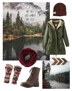 """Not all who wander are lost"" by gardenofroses on Polyvore featuring Krochet Kids, Muk Luks, BCBGMAXAZRIA, Charlotte Russe and WALL"