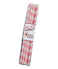 Take a look at this Pink Stripe Paper Straw - Set of 50 by Party Partners on #zulily today!