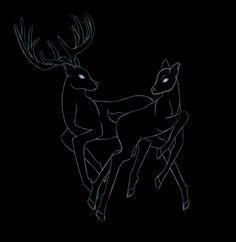 #stag #doe #deer #buck #tattooidea #couplestattoo