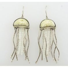 238a3ca9f Zealandia Jellyfish Sterling Silver and Fossilized Walrus Ivory Tusk Dangle  Earrings $379.00 #zealandia #natashasworld #jellyfish #ivory #earrings