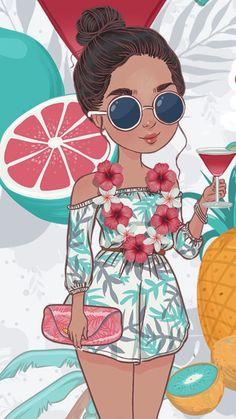 Bonito Whats Wallpaper, Summer Wallpaper, Screen Wallpaper, Wallpaper Backgrounds, Iphone Wallpaper, Dope Art, Cute Drawings, Summer Drawings, Sketchbook Drawings