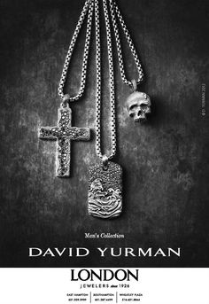 The David Yurman Men's Collection.  20in or longer and you won't go wrong.